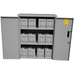 Midnite Solar MNBE-D - Battery Enclosure for 8 Group 31 Batteries