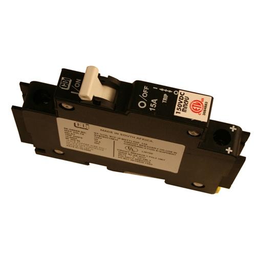 15 Amp 150 VDC Din Rail Mount Combiner PV Breaker | MNEPV15