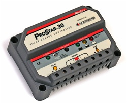 Morningstar ProStar 30 Amp 12/24 Volt PWM Charge Controller - Includes Digital Meter, Positive Ground - PS-30M-PG