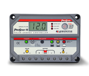 Morningstar PS-30M > 30 Amp 12/24 Volt Generation 2 ProStar PWM Charge Controller > Includes Digital Meter