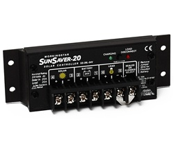 Morningstar SL-20L-24V - SunLight 20 Amp 24 Volt PWM Charge Controller - Includes LVD Override Protection