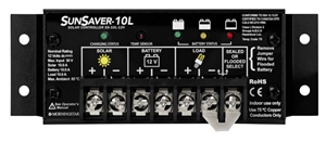 Morningstar SunSaver 10 Amp 12 Volt  PWM Charge Controller - Includes LVD Override Protection - SS-10L-12V
