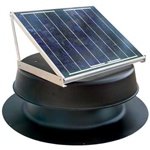 Natural Light SAF16BL > 16 Watt Black Solar Attic Fan > Shingled Roof
