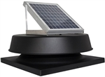 Natural Light SAF16CMBL > 16 Watt Black Solar Attic Fan / CURB MOUNT / Shingled Roof