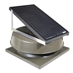 Natural Light SAF16CMBR > 16 Watt Bronze Solar Attic Fan / CURB MOUNT / Shingled Roof