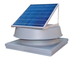 Natural Light SAF16CMGR > 16 Watt Grey Solar Attic Fan / CURB MOUNT / Shingled Roof