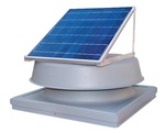 Natural Light SAF32CMGR > 32 Watt Solar Attic Fan > Curb Mount - GREY