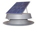 Natural Light SAF32GR > 32 Watt Gray Solar Attic Fan > Shingled Roof