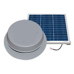 Natural Light SAF65GR > 65 Watt Gray Solar Attic Fan > Shingled Roof