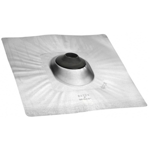 "OATEY / RD Kincaide - Aluminum No-Calk Roof Flashing - 0.5"" to 1"" Diameter - 18"" x 18"" Base - 11833"