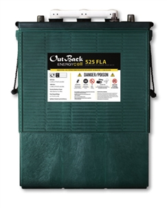Outback Power EnergyCell 525FLA > 445 Amp Hour 6 Volt L-16 Flooded Battery