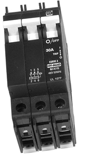 OutBack Power DIN-30T-AC-480 - 30 Amp 277 / 480 VAC Three Pole DIN Mount Breaker