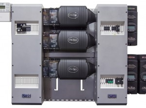 OutBack FP3 VFXR3024E > 9.0 kW FLEXpower THREE International Fully Pre-Wired & Factory Tested Triple Inverter System