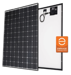 Panasonic VBHN330SA17E > 330 Watt AC Solar Panel with Enphase IQ7X 320 Watt Micro Inverter - Black 40mm Frame
