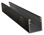 ProSolar R-168DBLACK > 168 Inch Deep Support Rail / 2.5 Inch Deep - Black