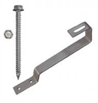 "QuickBOLT 17610 > 180° Flat Tile Roof Hook Kit - 38mm Height with #14 x 3"" Mounting Screws - 20 Hooks and 40 Screws"