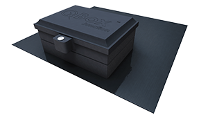 Quick Mount PV QMQB-J1-B > QBox, Flashed Junction Box for Comp Shingle Roofs - Bronze Finish