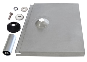 "Quick Mount PV QMTR-F3.25 A > Flat Tile Flashing with 3.25"" Post - Tile Replacement Mount - Box of 12"