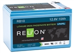 RELiON RB10 > 12 Volt 10 Amp Hour Lithium Battery