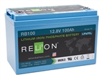 RELiON RB100 > 12 Volt 100 Amp Hour Lithium Battery