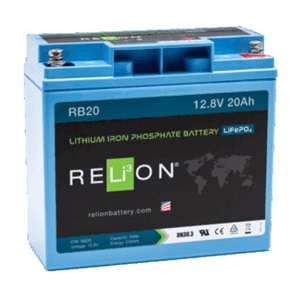 RELiON RB20 > 12 Volt 20 Amp Hour Lithium Battery