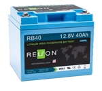 RELiON RB40 > 12 Volt 40 Amp Hour Lithium Battery