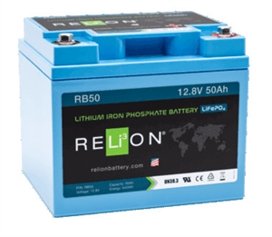 RELiON RB50 > 12 Volt 50 Amp Hour Lithium Battery