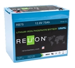 RELiON RB75 > 12 Volt 75 Amp Hour Lithium Battery