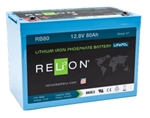 RELiON RB80 > 12 Volt 80 Amp Hour Lithium Battery