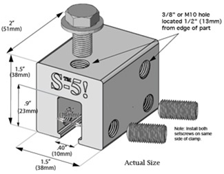 S-5! > Universal Clamp with 10mm bolt > S-5-U