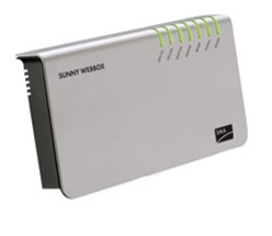 SMA Sunny WebBox > System Access from any Web Browser - wired Ethernet