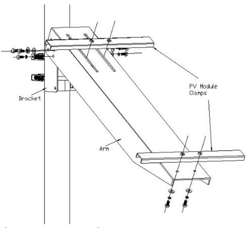 universal solar panel pole mount