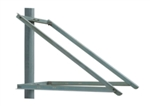 Solartech - Side of Pole Mount for 2 panels - Solartech RAC-M120-SD