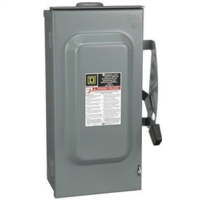 Square D D223NRB - 100 Amp 120/240 VAC Fusible Safety Switch / 2 Pole
