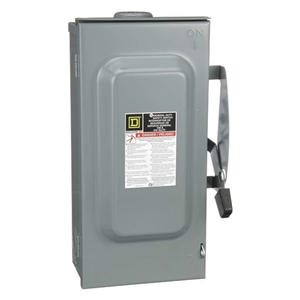 Square D 100 Amp 240 VAC Non-Fusible Safety Switch - 3 Pole - DU323RB