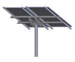 Tamarack Solar LTP-LCR/082R > Top of Pole Mount for Four Solar Panels - Landscape