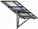 Tamarack Solar STP-LCR/124HW > High Wind Top of Pole Mount for Three Solar Panels - Landscape