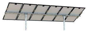 Tamarack Solar UNI-PGRM/5P2 > Top of Pole Mount for Five Solar Panels - 2 Vertical Poles