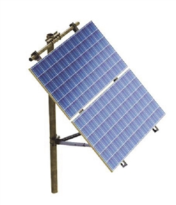 "Tamarack Solar UNI-SPHD/4-90 > Side of Pole Mount for Two 60 or 72 Cell Solar Panels - 4"" pole only"