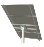 Tamarack Solar UNI-TP/04 > Top of Pole Mount for Three 90 Inch Solar Panels