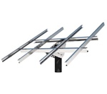 Tamarack Solar UNI-TP/10LL > Top of Pole Mount for Ten 115 Inch Solar Panels > Long Cross Rows