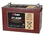 Trojan Battery 27-AGM - 12 Volt 100 Amp Hour AGM Deep Cycle Battery