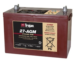 Trojan Battery 27 Agm 12 Volt 100 Amp Hour Agm Deep