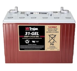 Trojan Battery 31-GEL - 12 Volt 102 Amp Hour Gel Deep Cycle Battery