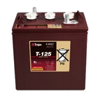 Trojan Battery T-125 > 6 volt 240 Amp Hour Deep-Cycle Flooded Battery
